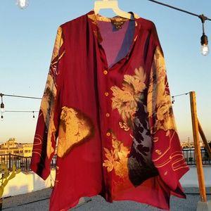 Citron of Santa Monica Silk Kimono Shirt/Jacket